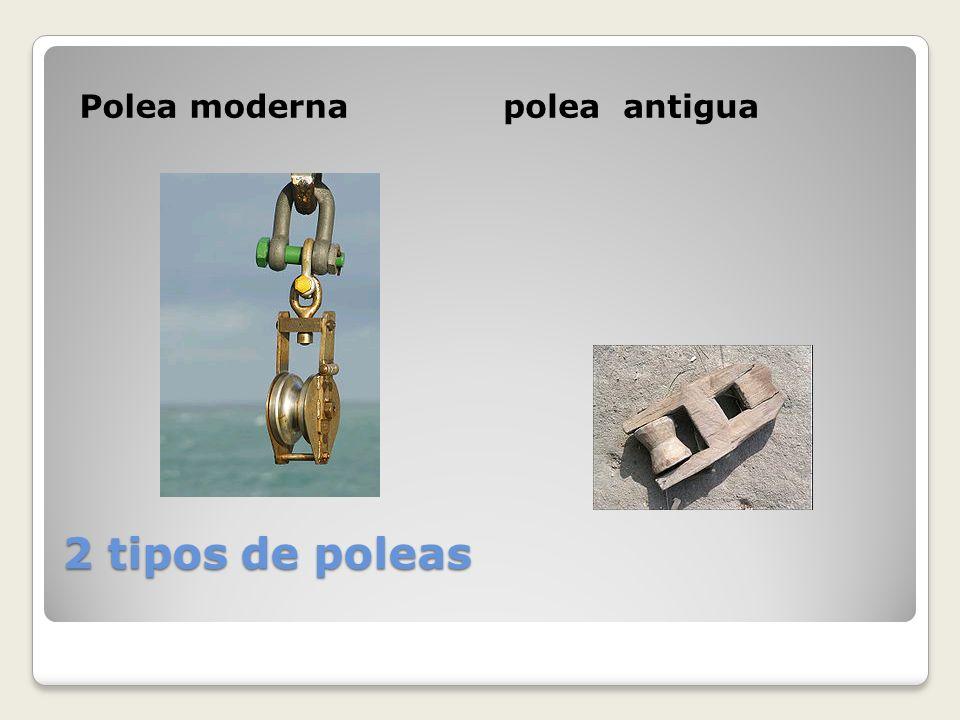 2 tipos de poleas Polea modernapolea antigua
