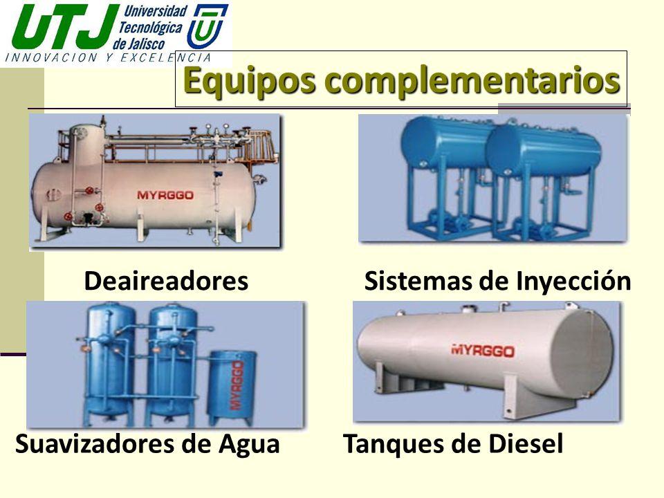 Equipos complementarios DeaireadoresSistemas de Inyección Suavizadores de Agua Tanques de Diesel