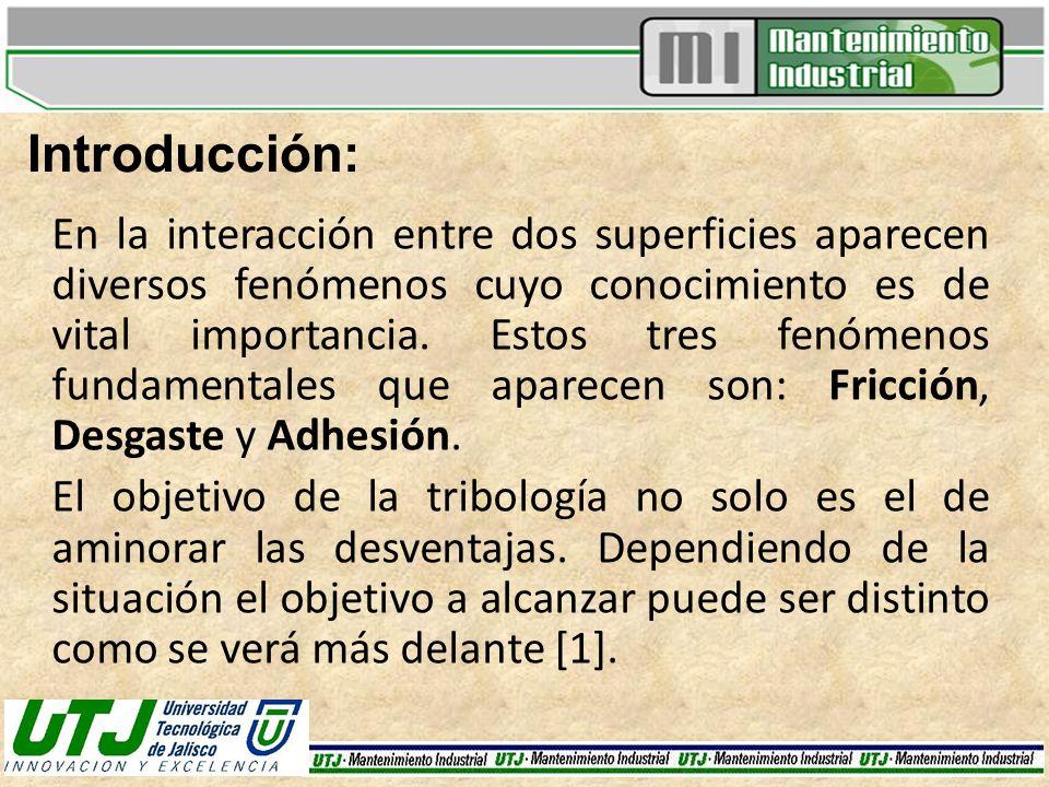 Definiciones básicas: FRICCIÓN: Efecto que proviene de la existencia de fuerzas tangenciales que aparecen entre dos superficies sólidas en contacto cuando permanecen unidas por la existencia de esfuerzos normales a las mismas [2].