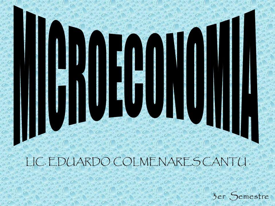 LIC. EDUARDO COLMENARES CANTU. 3er Semestre