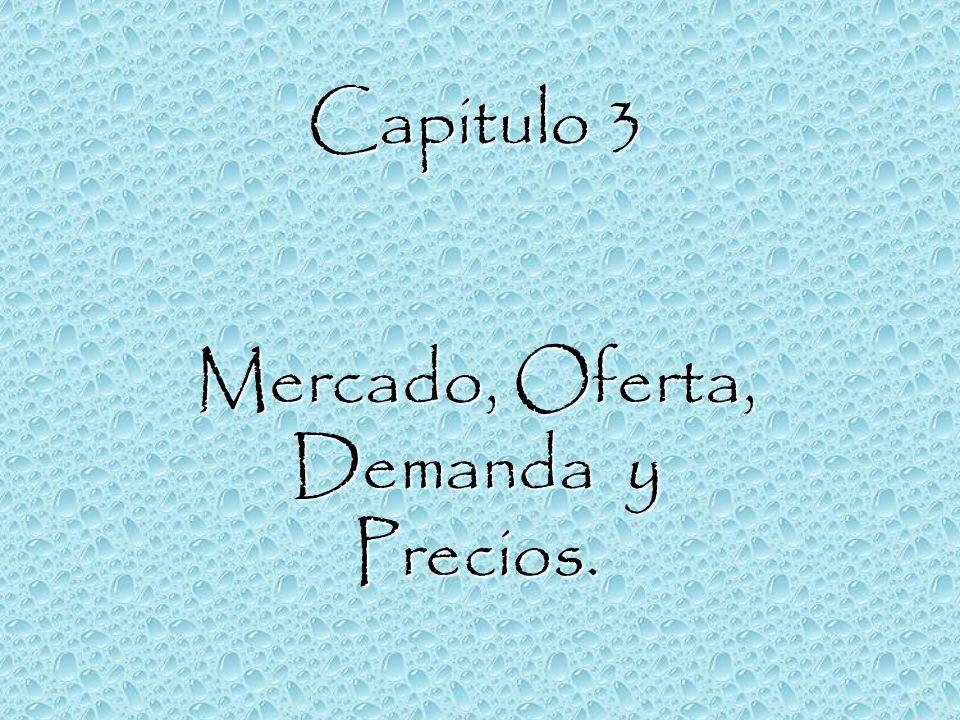 Capitulo 3 Mercado, Oferta, Demanda y Precios.