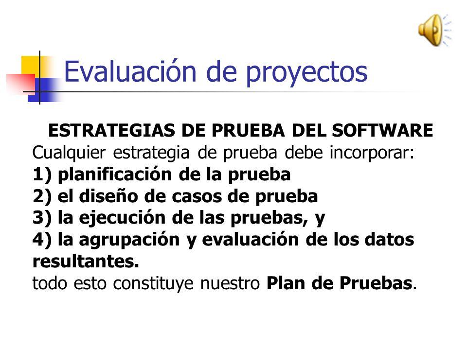 . UNIDAD IV EVALUACION DE PROYECTOS DE SOFTWARE