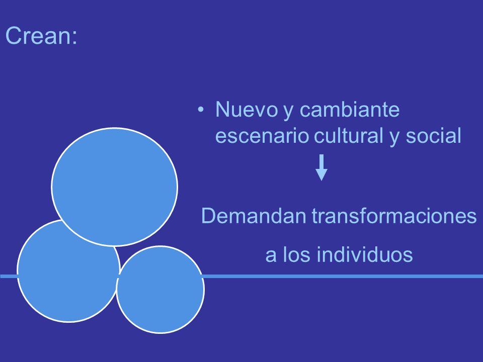 Crean: Nuevo y cambiante escenario cultural y social Demandan transformaciones a los individuos