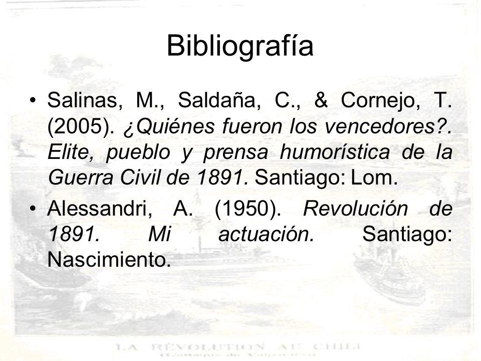 Bibliografía Heise González Julio (1974) Historia de Chile, El periodo Parlamentario 1861- 1925 Tomo I.