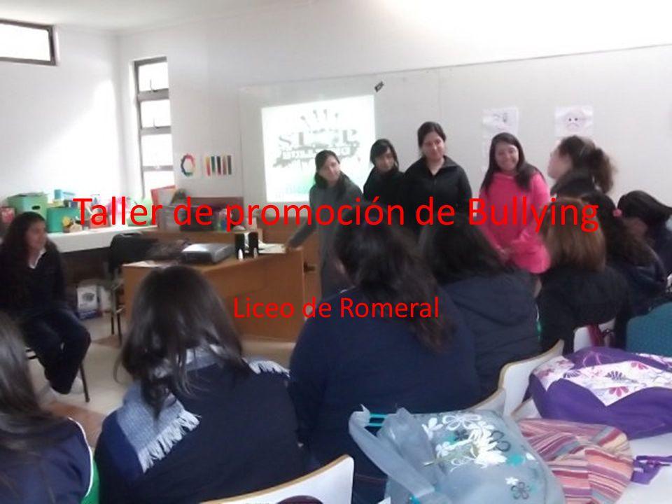 Taller de promoción de Bullying Liceo de Romeral