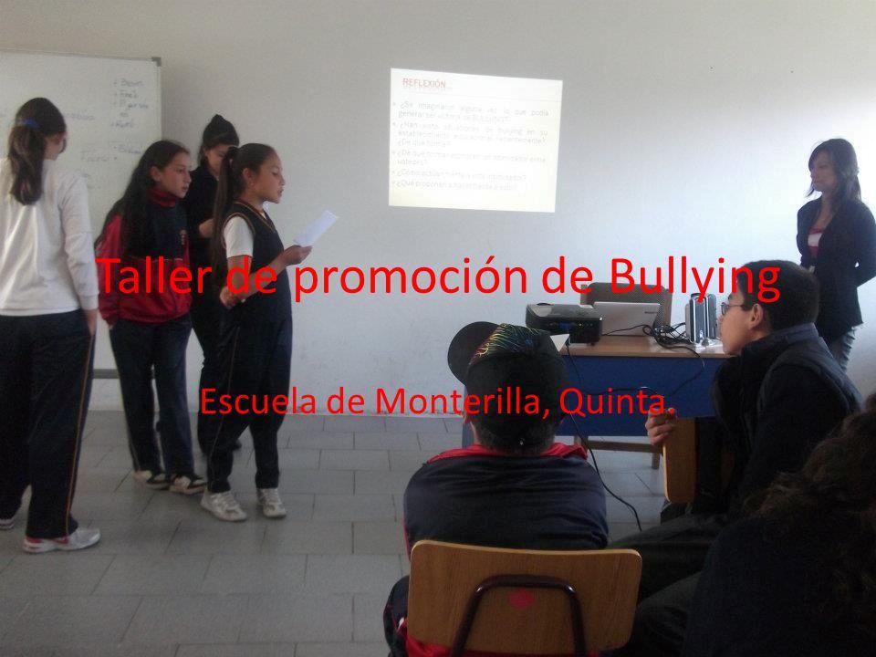 Taller de promoción de Bullying Escuela de Monterilla, Quinta.