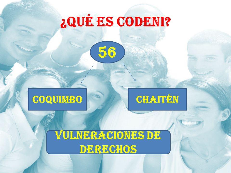 ¿Qué es CODENI? 56 CoquimboChaitén VULNERACIONES DE DERECHOS