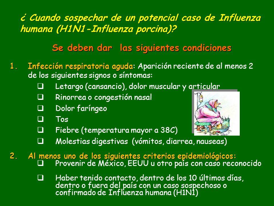 1.Infección respiratoria aguda 1.Infección respiratoria aguda: Aparición reciente de al menos 2 de los siguientes signos o síntomas: Letargo (cansanci