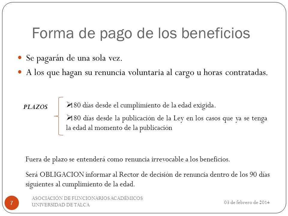 Efectos Tributarios No serán imponibles, No constituirán renta Laboral Incompatible con toda indemnización.
