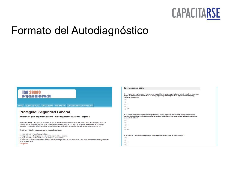 Formato del Autodiagnóstico