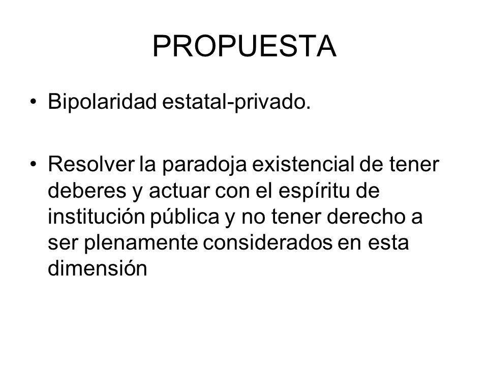 PROPUESTA Bipolaridad estatal-privado.