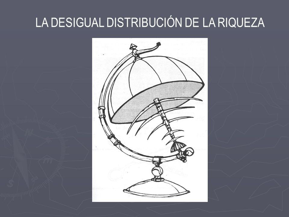 LA DESIGUAL DISTRIBUCIÓN DE LA RIQUEZA