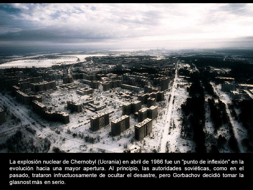 La explosión nuclear de Chernobyl (Ucrania) en abril de 1986 fue un