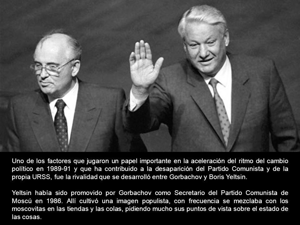 Uno de los factores que jugaron un papel importante en la aceleración del ritmo del cambio político en 1989-91 y que ha contribuido a la desaparición