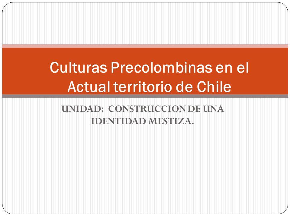 UNIDAD: CONSTRUCCION DE UNA IDENTIDAD MESTIZA. Culturas Precolombinas en el Actual territorio de Chile