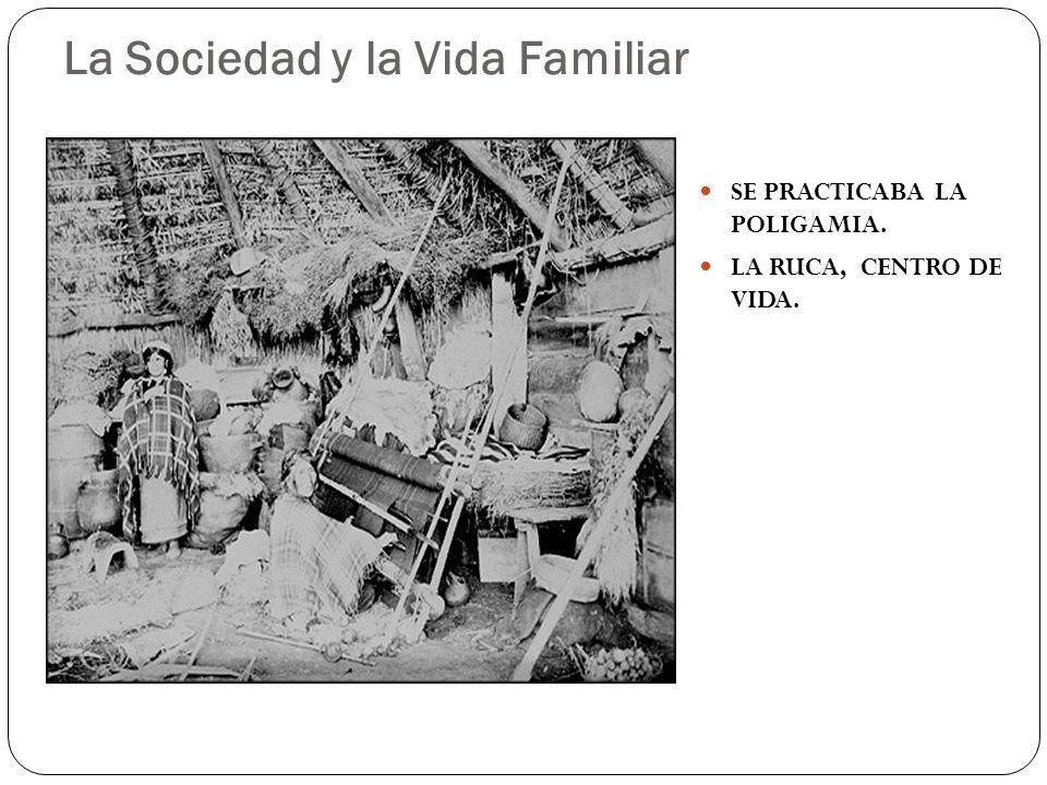 La Sociedad y la Vida Familiar SE PRACTICABA LA POLIGAMIA. LA RUCA, CENTRO DE VIDA.