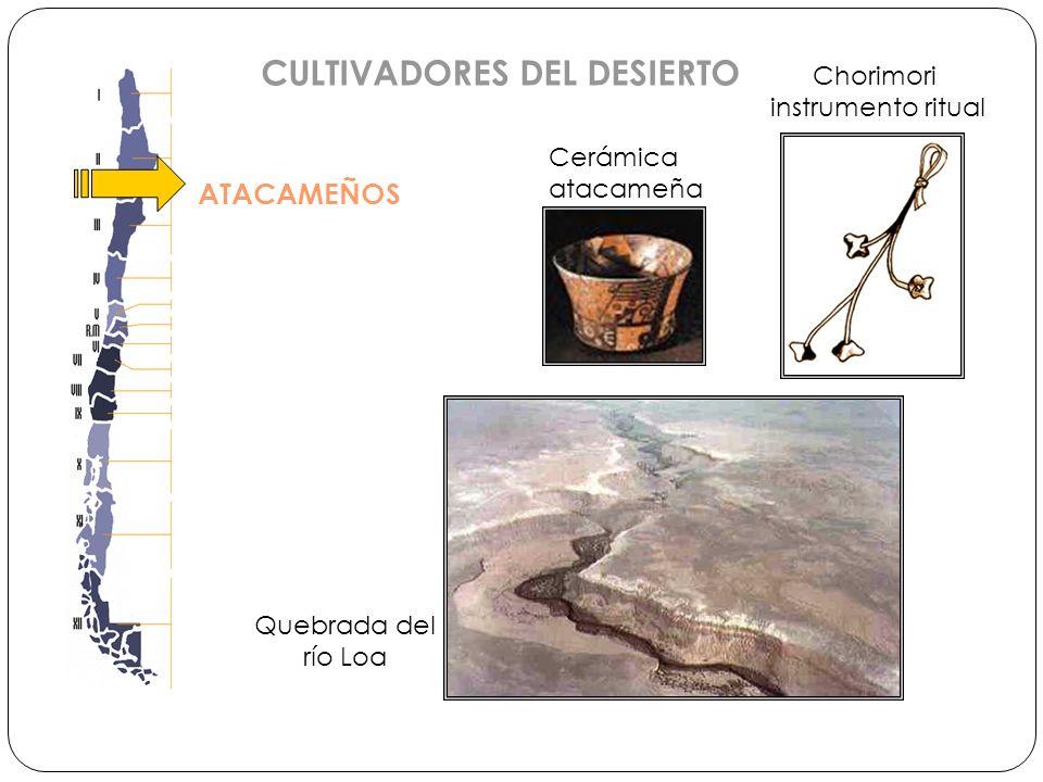 ATACAMEÑOS CULTIVADORES DEL DESIERTO Quebrada del río Loa Chorimori instrumento ritual Cerámica atacameña