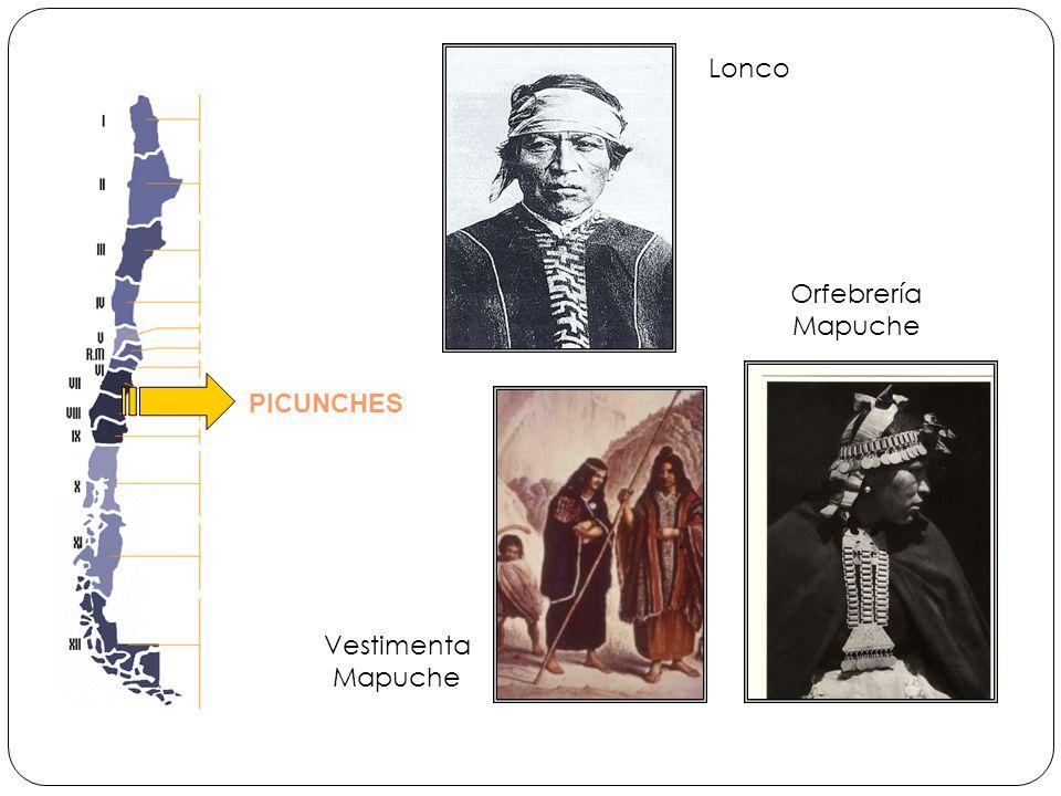 PICUNCHES Lonco Orfebrería Mapuche Vestimenta Mapuche