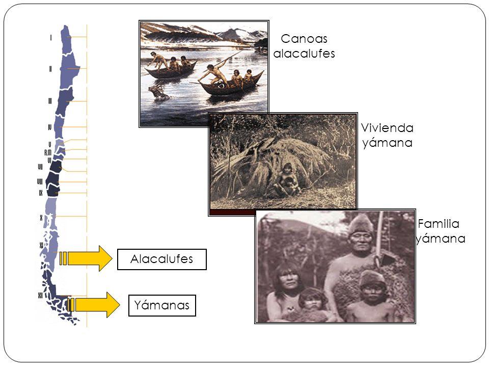 Alacalufes Yámanas Canoas alacalufes Vivienda yámana Familia yámana