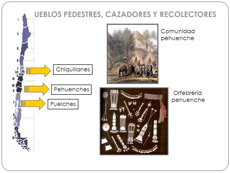 Chiquillanes PUEBLOS PEDESTRES, CAZADORES Y RECOLECTORES Pehuenches Puelches Comunidad pehuenche Orfebrería pehuenche
