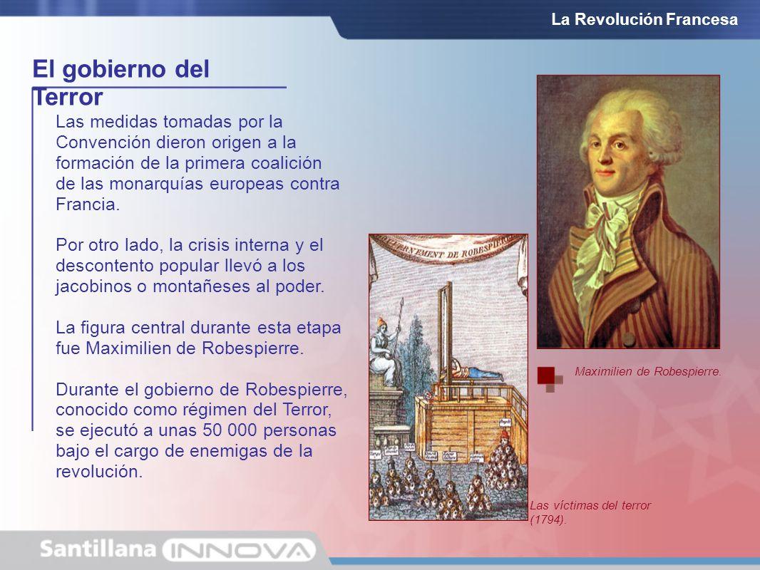 El gobierno del Terror La Revolución Francesa Las medidas tomadas por la Convención dieron origen a la formación de la primera coalición de las monarq