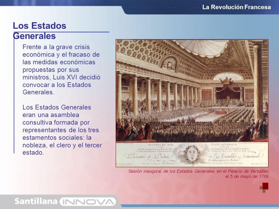 Frente a la grave crisis económica y el fracaso de las medidas económicas propuestas por sus ministros, Luis XVI decidió convocar a los Estados Genera