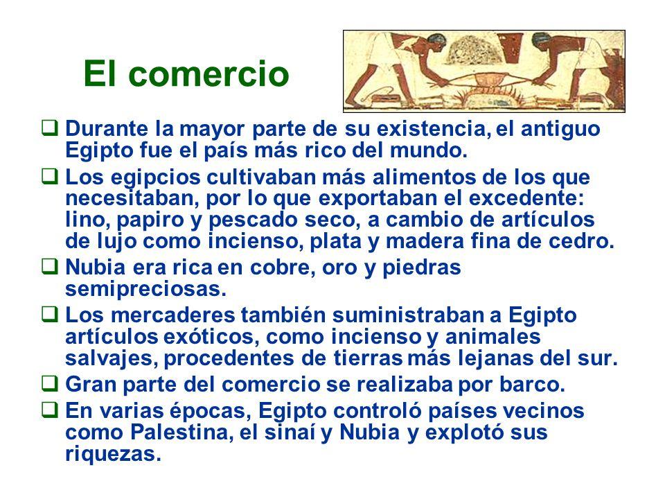 Durante la mayor parte de su existencia, el antiguo Egipto fue el país más rico del mundo. Los egipcios cultivaban más alimentos de los que necesitaba