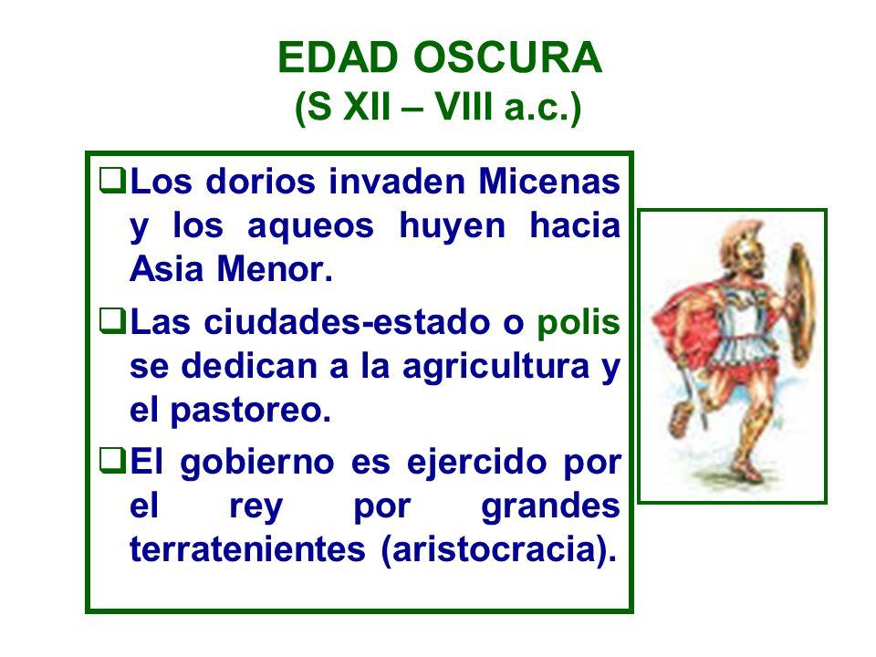 EDAD ARCAICA (siglos VIII al VI a.