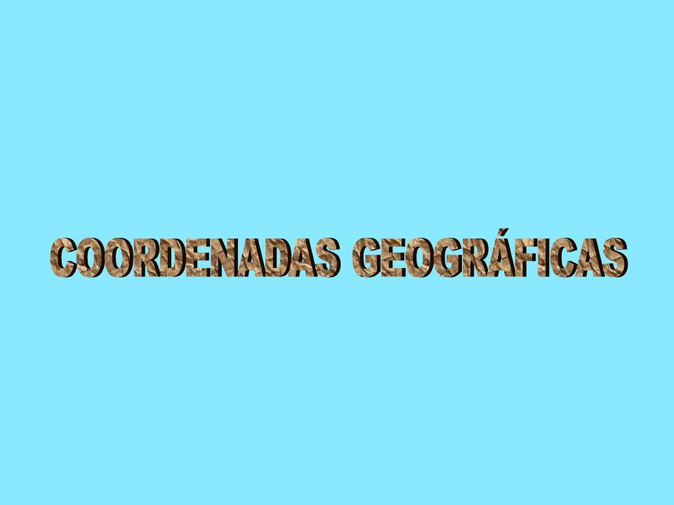 Para localizar un punto sobre la superficie terrestre se recurre a las coordenadas geográficas.