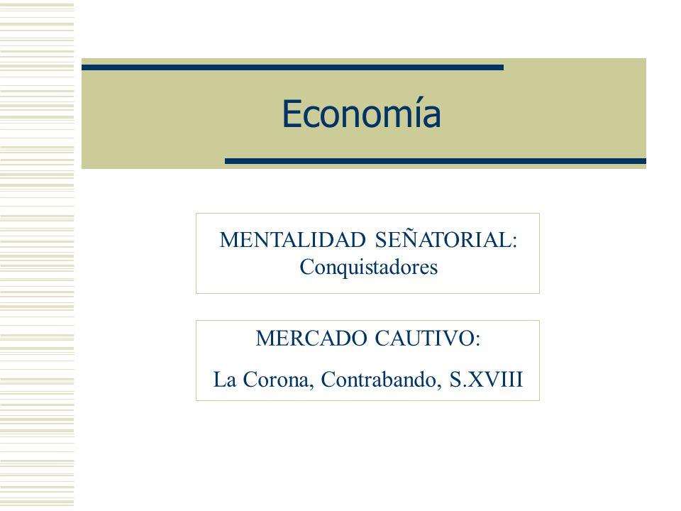 Características generales de la Economía Siglo XVI Siglo XVII Siglo XVIII