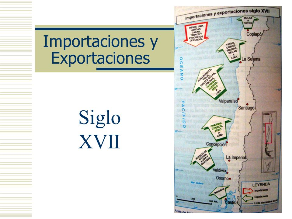 Importaciones y Exportaciones Siglo XVII