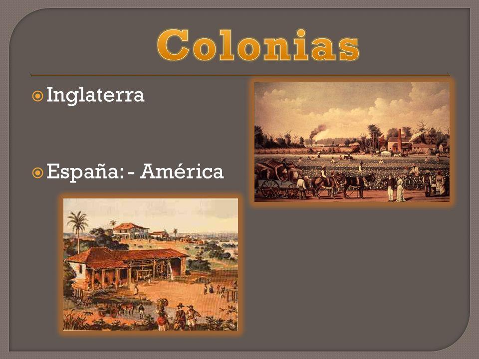 Inglaterra España: - América
