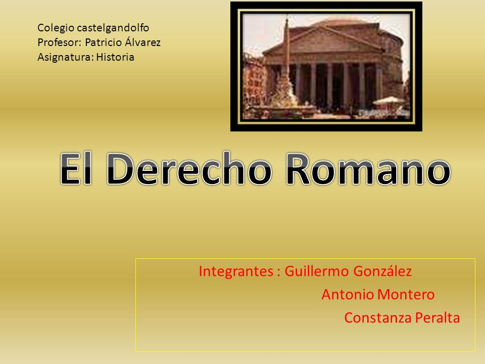 Es el conjunto de normas jurídicas que regían al pueblo romano desde su fundación hasta la caída del Imperio.