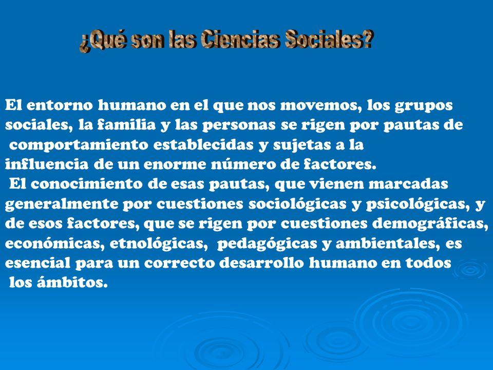 El entorno humano en el que nos movemos, los grupos sociales, la familia y las personas se rigen por pautas de comportamiento establecidas y sujetas a