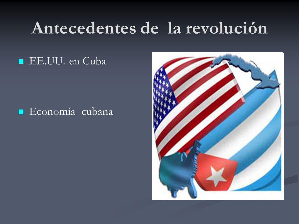 Antecedentes de la revolución EE.UU. en Cuba Economía cubana