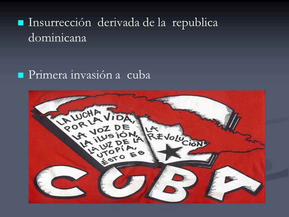 Insurrección derivada de la republica dominicana Primera invasión a cuba