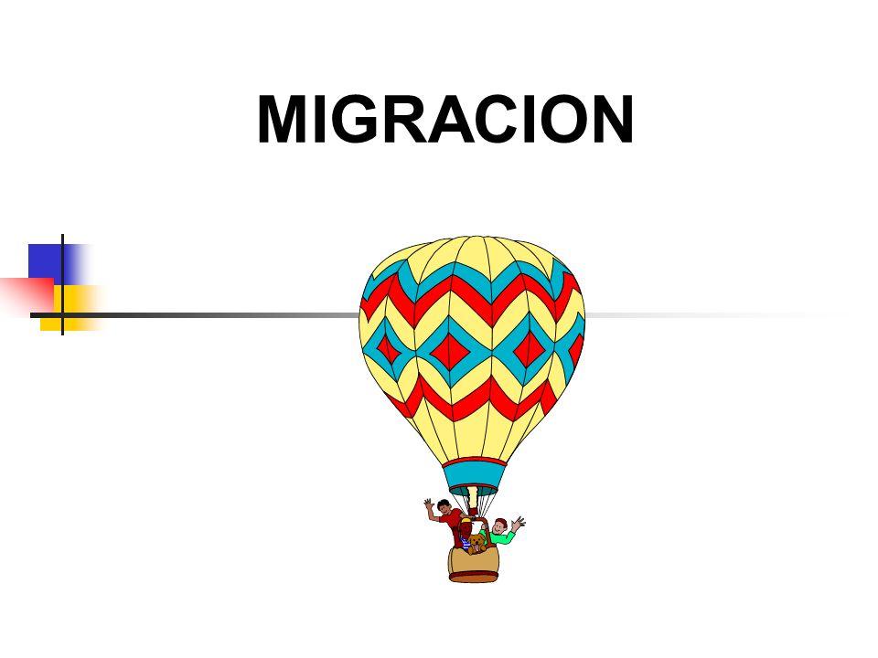 Migración M ovimiento de personas a través de una división política o frontera para establecer una nueva residencia permanente, con la finalidad de desarrollar actividades tanto económicas como educacionales, culturales, sociales, entre otras