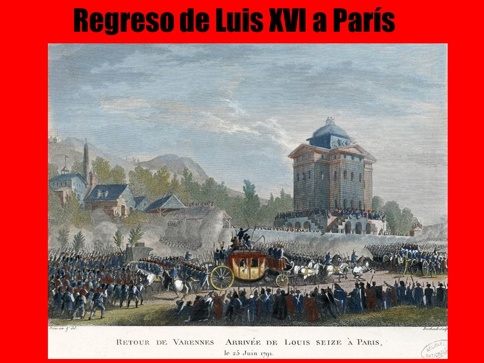 Regreso de Luis XVI a París