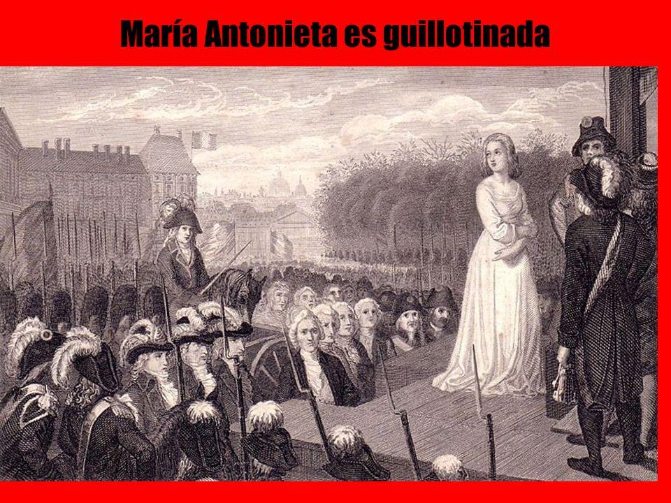 María Antonieta es guillotinada