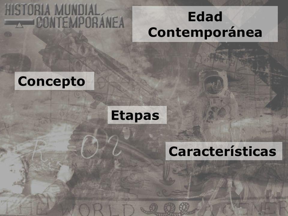 Edad Contemporánea Etapas Concepto Características