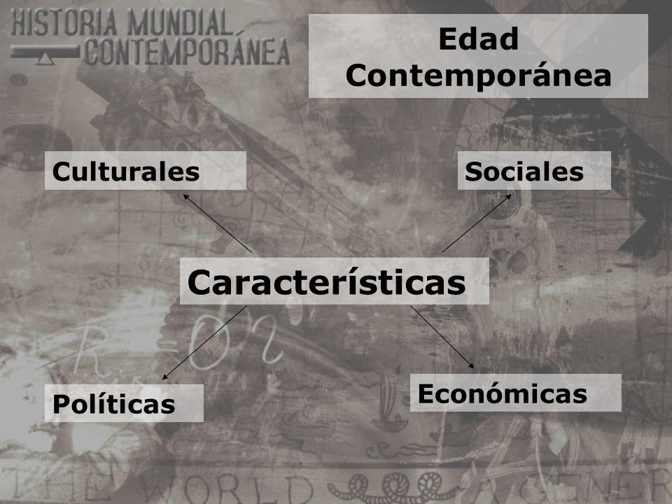 Edad Contemporánea Características Culturales Políticas Sociales Económicas