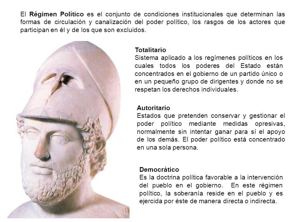 Democrático Es la doctrina política favorable a la intervención del pueblo en el gobierno. En este régimen político, la soberanía reside en el pueblo