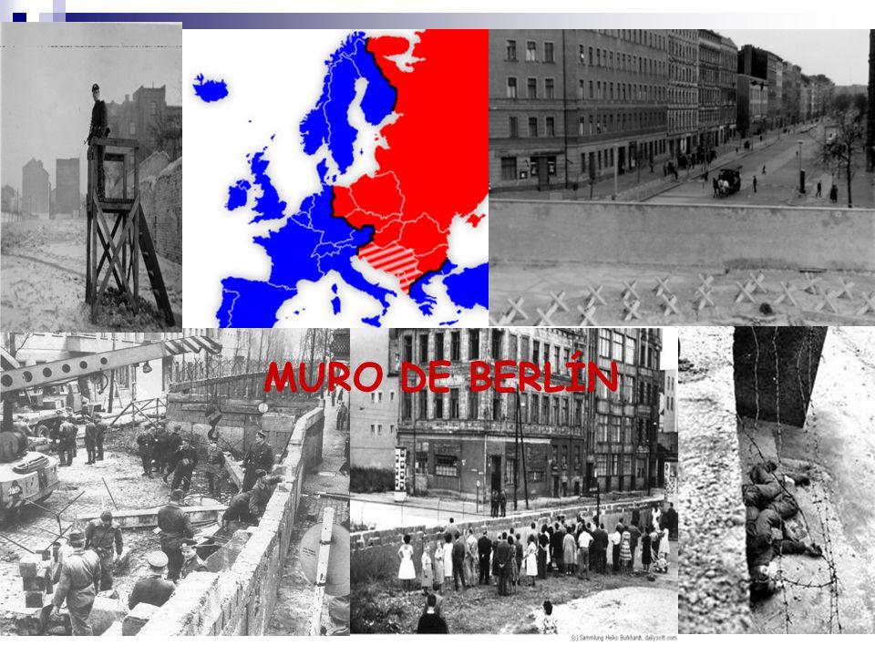 LA CAÍDA DE EUROPA DEL ESTE Los cambios en la URSS impactaron también en los países comunistas.