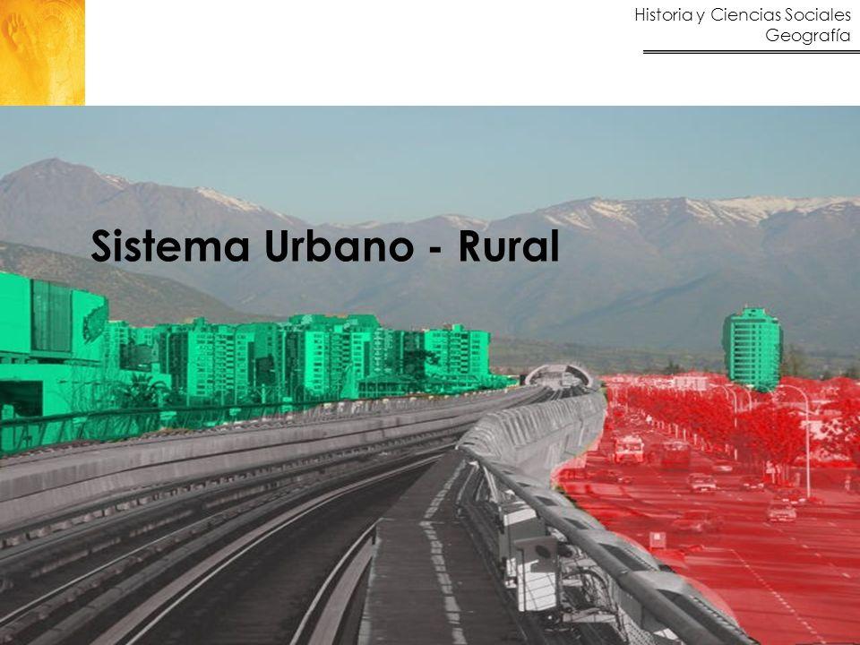 Historia y Ciencias Sociales Geografía 2 Contenidos Aprendizajes esperados Sistema urbano - rural.