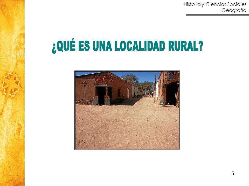 Historia y Ciencias Sociales Geografía 26 Ocupación extensiva del suelo, especialización económica (actividades propias del agro).