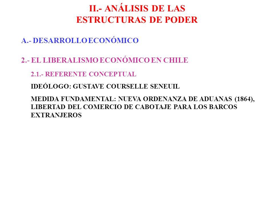 II.- ANÁLISIS DE LAS ESTRUCTURAS DE PODER A.- DESARROLLO ECONÓMICO 2.- EL LIBERALISMO ECONÓMICO EN CHILE 2.1.- REFERENTE CONCEPTUAL IDEÓLOGO: GUSTAVE