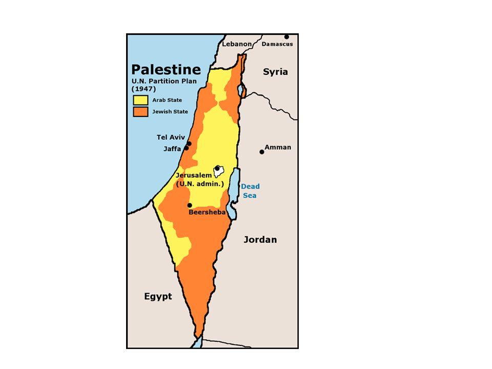 Los Judíos aceptaron el trato a pesar de no estar de acuerdo ya que era para ellos indefendible su posición y poco viable su territorio asignado pero los Árabes rechazaron completamente la oferta ya que el comité arabe califico de absurda la proposicion.