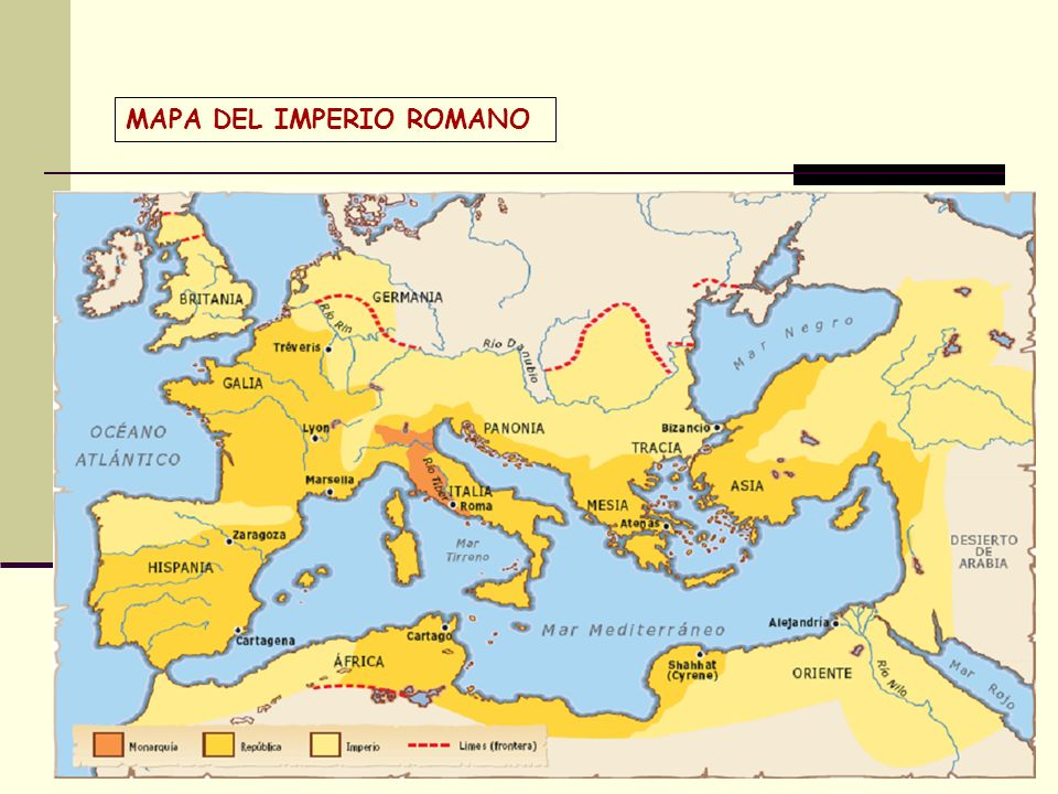 MAPA DEL IMPERIO ROMANO