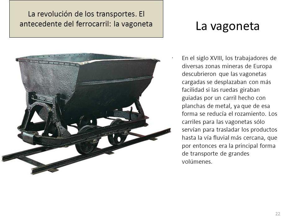 La vagoneta En el siglo XVIII, los trabajadores de diversas zonas mineras de Europa descubrieron que las vagonetas cargadas se desplazaban con más fac