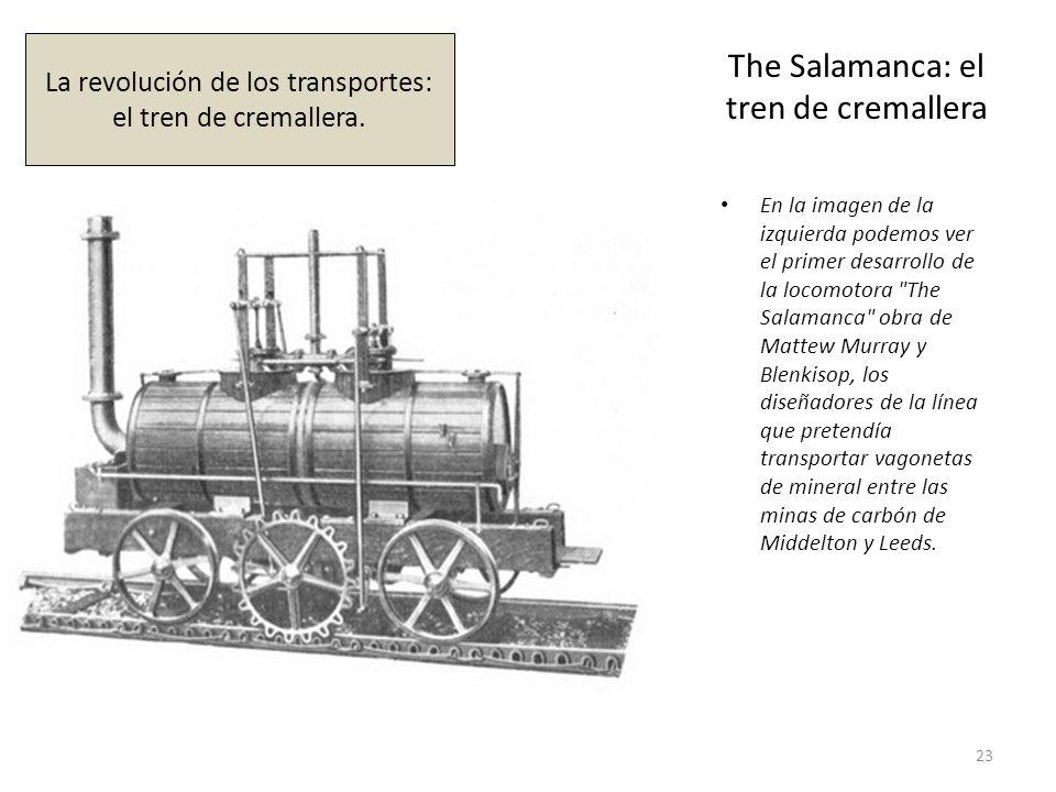 The Salamanca: el tren de cremallera En la imagen de la izquierda podemos ver el primer desarrollo de la locomotora